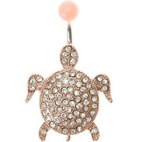 Rose Gold Turtle Belly Ring - Turtle Gifts
