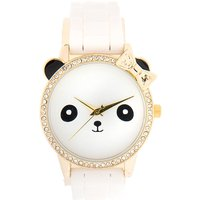 white and crystal panda watch