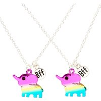Rainbow Elephant Best Friend Necklaces - Best Friend Gifts
