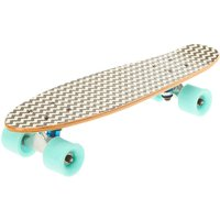 Mint & White Chevron Retro Skateboard - Skateboard Gifts