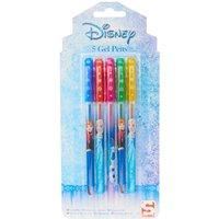 Frozen 5 Pack Coloured Gel Pens - Pens Gifts