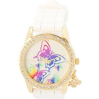 rainbow butterfly wrist watch