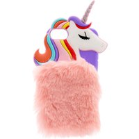 Rainbow Unicorn Faux Fur Phone Case - Phone Case Gifts