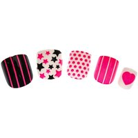 24 Pack Kids Neon Pink Quirky False Nails - Quirky Gifts
