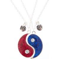 Bright Glitter Yin & Yang Best Friend Necklaces - Best Friend Gifts