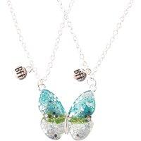 Glitter Butterfly Wings Best Friend Necklaces - Best Friend Gifts