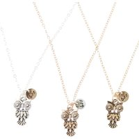 Pack of 3 Mixed Metal Owl Best Friend Necklaces - Best Friend Gifts