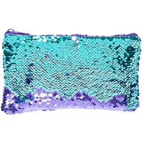 Reversible Purple To Mint Sequin Pencil Case - Pencil Case Gifts