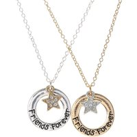 Best Friend Circle and Star Necklace Set - Best Friend Gifts