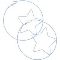 70MM Sensitive Solutions Lavender Star Hoop Earrings - Lavender Gifts
