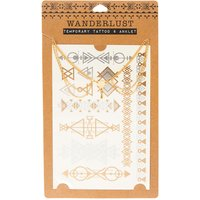 Wanderlust Temporary Tattoo & Anklet Set - Tattoo Gifts