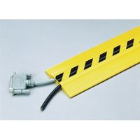 CABLE PROTECTOR PVC, 3M LENGTH WIDTH:75MM, BLACK/YELLOW