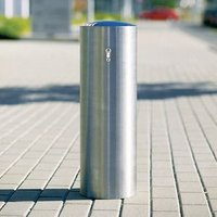 CHICHESTER BOLLARD 1,000 X 204MM DIAM. DOMED HEAD. SUB-SURFACE FIX. STAINLESS