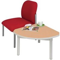 'Enviro Quadrant Coffee Table, Silver  Anodised Frame, Beech Top, Light Grey Edge