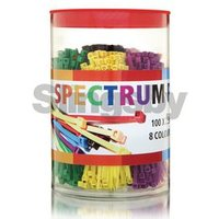 800 (100 x EACH COLOUR) STANDARD CABLE TIES 100 x 2.5MM, PACK