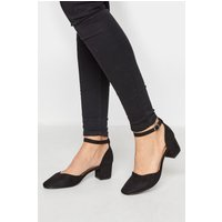Lts black block heel court shoes