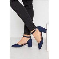 Lts navy block heel court shoes