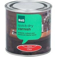 Clear Gloss Furniture Wood varnish  0.25L