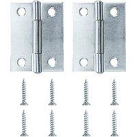Zinc-plated Metal Butt Door hinge (L)50mm NO89  Pack of 2