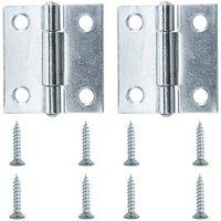 Zinc-plated Metal Butt Door hinge (L)38mm  Pack of 2