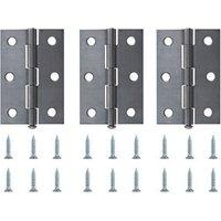 Steel Butt Door hinge (L)75mm N173  Pack of 3