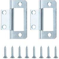 Zinc-plated Metal Flush Door hinge (L)50mm NO99  Pack of 2
