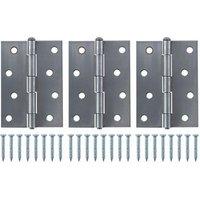 Steel Butt Door hinge (L)100mm N438  Pack of 3