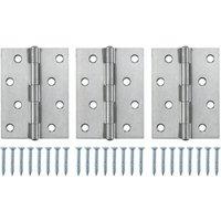 Stainless steel Butt Door hinge (L)100mm N432  Pack of 3