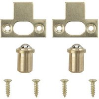 Brass-plated Carbon steel Ball catch Pack of 2.