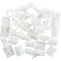 White Plastic Shelf support (L)26mm Pack of 12.