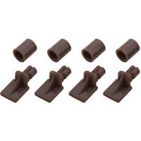 Brown Plastic Shelf support (L)26mm Pack of 12.