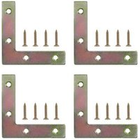 Steel Corner plate Pack of 4.