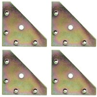Yellow Zinc-plated Mild steel Corner bracket (L)82mm Pack of 4.
