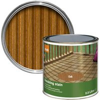 Colours Medium oak Matt Decking Wood stain  2.5L