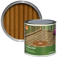 Colours Cedar Matt Decking Wood stain  2.5L