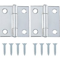Chrome-plated Metal Butt Door hinge (L)38mm N429  Pack of 2