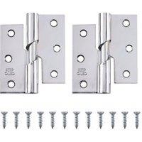 Chrome-plated Metal Butt Door hinge (L)75mm N429  Pack of 2