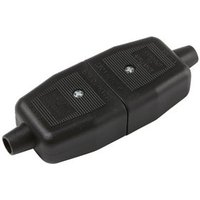 BandQ 10A Black Indoor Switched 3 pin plug and socket