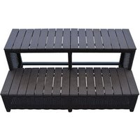 Canadian Spa Brown Rattan Straight step