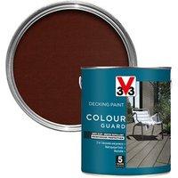 V33 Colour guard Matt medium brown Decking paint  2.5L