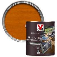 V33 High performance Light oak UV resistant Decking Wood oil  2.5L