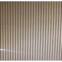FFA Concept Silver effect Anodised Aluminium Corrugated Sheet  (H)500mm (W)250mm (T)1mm