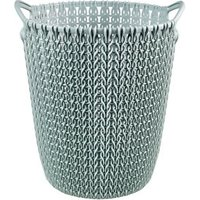 Curver Misty blue Knit effect Plastic Circular Kitchen bin