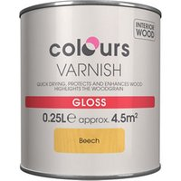 Colours Beech Gloss Wood varnish  0.25L