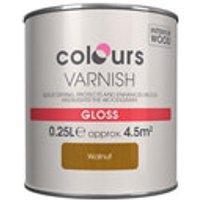 Colours Walnut Gloss Wood varnish  0.25L