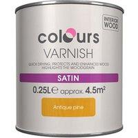 Colours Antique pine Satin Wood varnish  0.25L