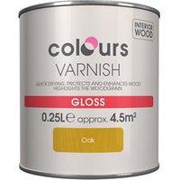 Colours Oak Gloss Wood varnish  0.25L