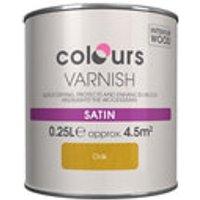Colours Oak Satin Wood varnish  0.25L