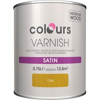Colours Oak Satin Wood varnish  0.75L