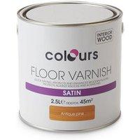 Colours Antique pine Satin Floor Wood varnish  2.5L
